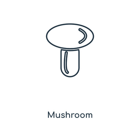 Mushroom concept line icon. Linear Mushroom concept outline symbol design. This simple element illustration can be used for web and mobile UI/UX.  イラスト・ベクター素材