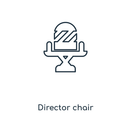 Director chair concept line icon. Linear Director chair concept outline symbol design. This simple element illustration can be used for web and mobile UI/UX.