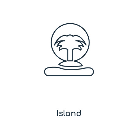 Island concept line icon. Linear Island concept outline symbol design. This simple element illustration can be used for web and mobile UIUX.