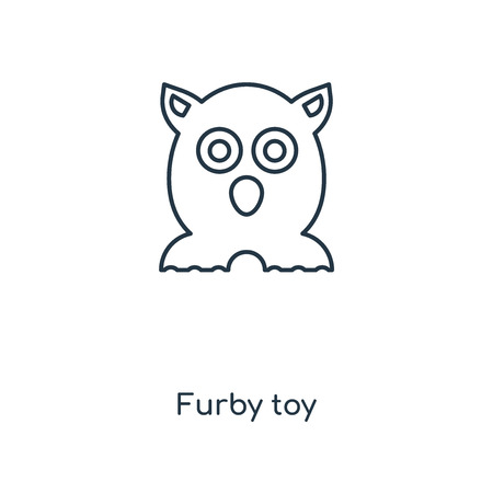 Furby toy concept line icon. Linear Furby toy concept outline symbol design. This simple element illustration can be used for web and mobile UI/UX. Vektorové ilustrace