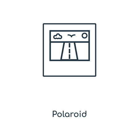 Polaroid concept line icon. Linear Polaroid concept outline symbol design. This simple element illustration can be used for web and mobile UI/UX.