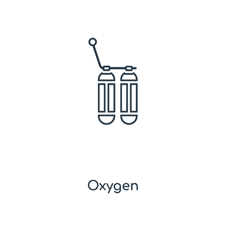Oxygen concept line icon. Linear Oxygen concept outline symbol design. This simple element illustration can be used for web and mobile UI/UX.
