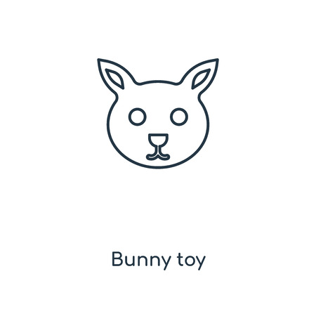 Bunny toy concept line icon. Linear Bunny toy concept outline symbol design. This simple element illustration can be used for web and mobile UI/UX. Illustration