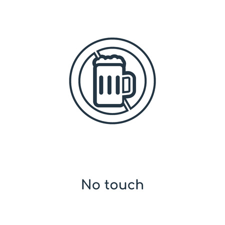 No touch concept line icon. Linear No touch concept outline symbol design. This simple element illustration can be used for web and mobile UI/UX. Stock Vector - 113549680