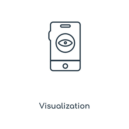 Visualization concept line icon. Linear Visualization concept outline symbol design. This simple element illustration can be used for web and mobile UI/UX.