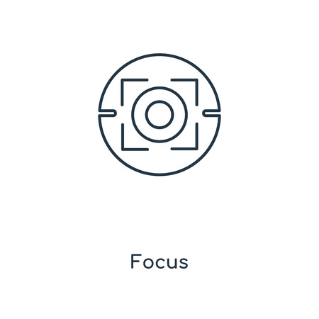Focus concept line icon. Linear Focus concept outline symbol design. This simple element illustration can be used for web and mobile UIUX.