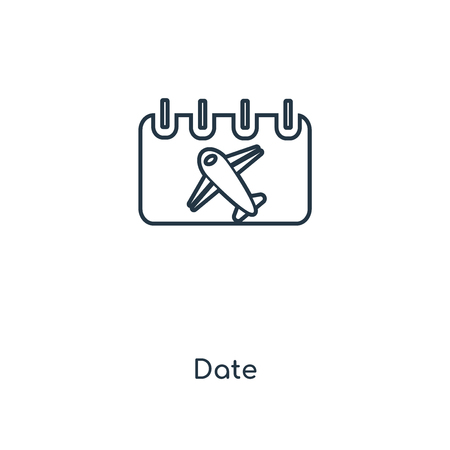 Date concept line icon. Linear Date concept outline symbol design. This simple element illustration can be used for web and mobile UI/UX.