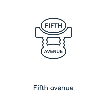 Fifth avenue concept line icon. Linear Fifth avenue concept outline symbol design. This simple element illustration can be used for web and mobile UI/UX.  イラスト・ベクター素材