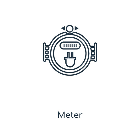 Meter concept line icon. Linear Meter concept outline symbol design. This simple element illustration can be used for web and mobile UI/UX. Vector Illustration