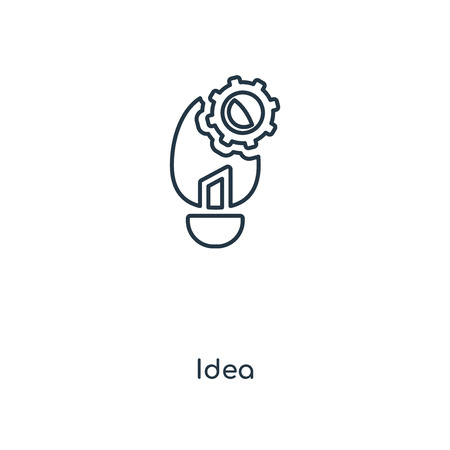 Idea concept line icon. Linear Idea concept outline symbol design. This simple element illustration can be used for web and mobile UI/UX. Vettoriali