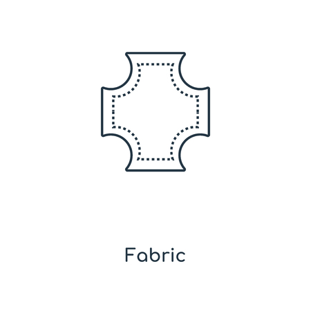Fabric concept line icon. Linear Fabric concept outline symbol design. This simple element illustration can be used for web and mobile UI/UX.