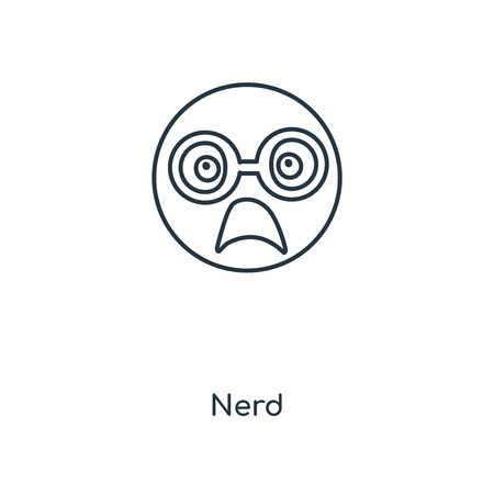 Nerd concept line icon. Linear Nerd concept outline symbol design. This simple element illustration can be used for web and mobile UI/UX.