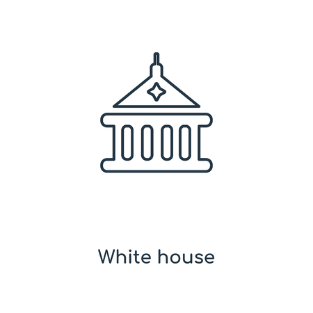 White house concept line icon. Linear White house concept outline symbol design. This simple element illustration can be used for web and mobile UI/UX.