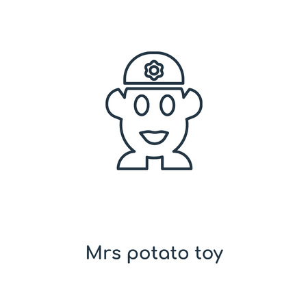 Mrs potato toy concept line icon. Linear Mrs potato toy concept outline symbol design. This simple element illustration can be used for web and mobile UI/UX. Foto de archivo - 113549927