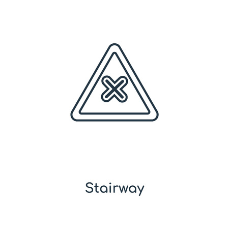 Stairway concept line icon. Linear Stairway concept outline symbol design. This simple element illustration can be used for web and mobile UI/UX. 矢量图像
