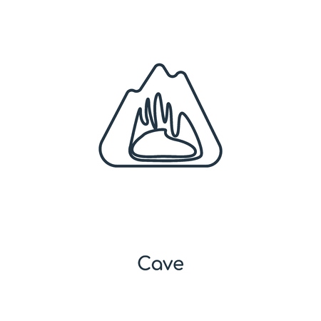 Cave concept line icon. Linear Cave concept outline symbol design. This simple element illustration can be used for web and mobile UIUX.
