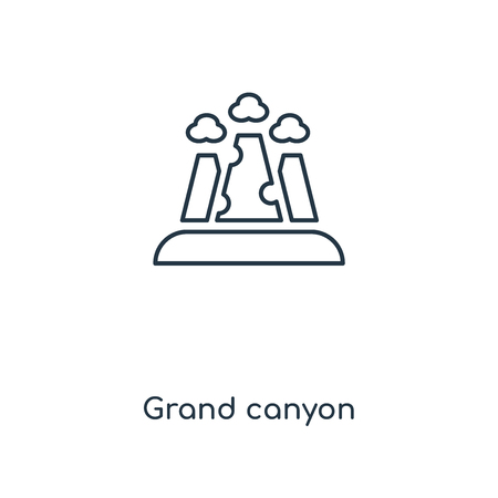 Grand canyon concept line icon. Linear Grand canyon concept outline symbol design. This simple element illustration can be used for web and mobile UI/UX. Illustration