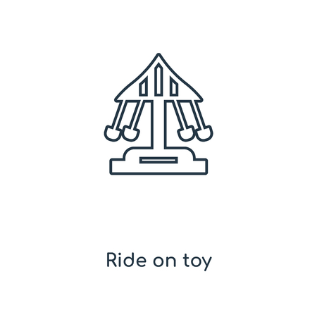 Ride on toy concept line icon. Linear Ride on toy concept outline symbol design. This simple element illustration can be used for web and mobile UI/UX.