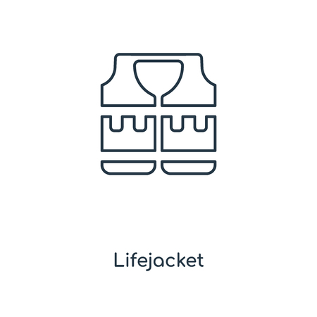 Lifejacket concept line icon. Linear Lifejacket concept outline symbol design. This simple element illustration can be used for web and mobile UI/UX.