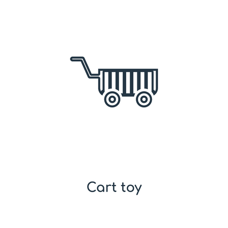 Cart toy concept line icon. Linear Cart toy concept outline symbol design. This simple element illustration can be used for web and mobile UIUX. Illustration