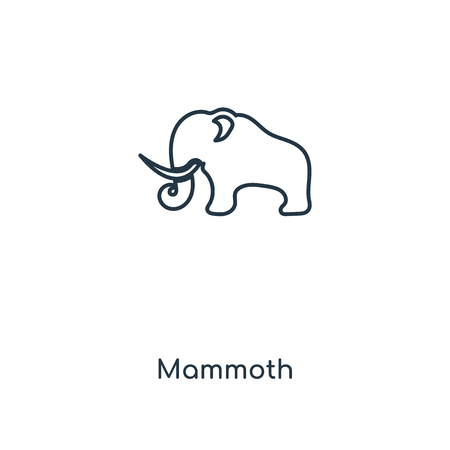 Mammoth concept line icon. Linear Mammoth concept outline symbol design. This simple element illustration can be used for web and mobile UIUX. Ilustração