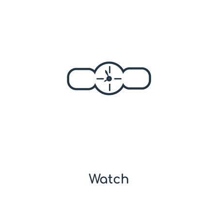 Watch concept line icon. Linear Watch concept outline symbol design. This simple element illustration can be used for web and mobile UI/UX.