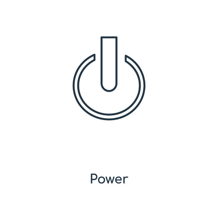 Power concept line icon. Linear Power concept outline symbol design. This simple element illustration can be used for web and mobile UI/UX.