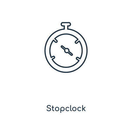 Stopclock concept line icon. Linear Stopclock concept outline symbol design. This simple element illustration can be used for web and mobile UI/UX.