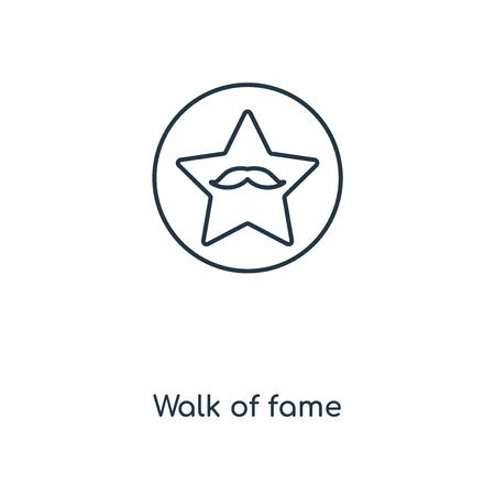 Walk of fame concept line icon. Linear Walk of fame concept outline symbol design. This simple element illustration can be used for web and mobile UI/UX.  イラスト・ベクター素材