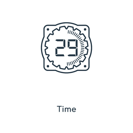 Time concept line icon. Linear Time concept outline symbol design. This simple element illustration can be used for web and mobile UI/UX. Illustration