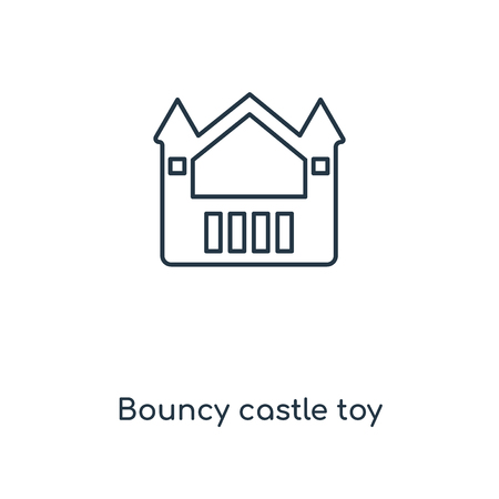 Bouncy castle toy concept line icon. Linear Bouncy castle toy concept outline symbol design. This simple element illustration can be used for web and mobile UIUX. Illustration