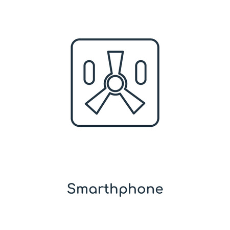 Smarthphone concept line icon. Linear Smarthphone concept outline symbol design. This simple element illustration can be used for web and mobile UI/UX.