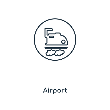 Airport concept line icon. Linear Airport concept outline symbol design. This simple element illustration can be used for web and mobile UI/UX. Illustration
