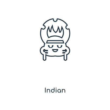 Indian concept line icon. Linear Indian concept outline symbol design. This simple element illustration can be used for web and mobile UI/UX.