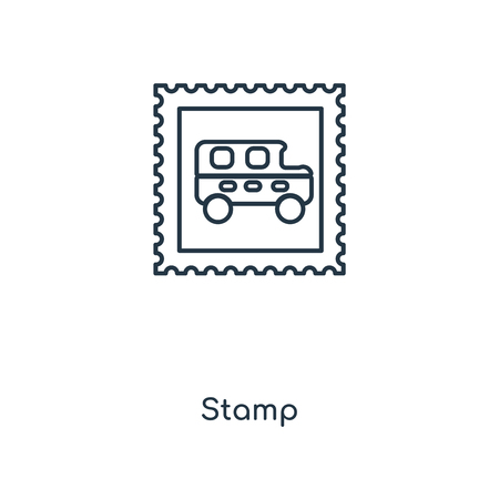 Stamp concept line icon. Linear Stamp concept outline symbol design. This simple element illustration can be used for web and mobile UI/UX.