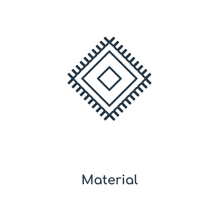 Material concept line icon. Linear Material concept outline symbol design. This simple element illustration can be used for web and mobile UI/UX. Stock Vector - 113550249