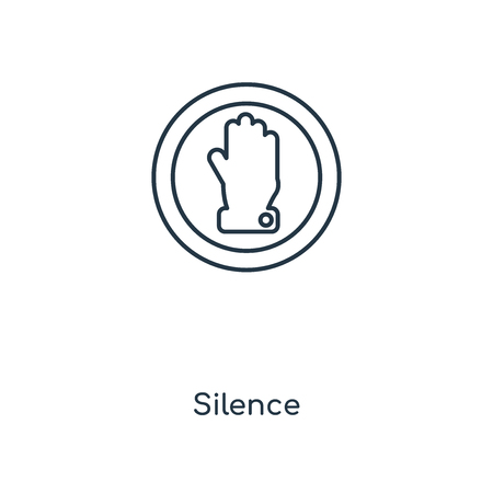 Silence concept line icon. Linear Silence concept outline symbol design. This simple element illustration can be used for web and mobile UIUX.