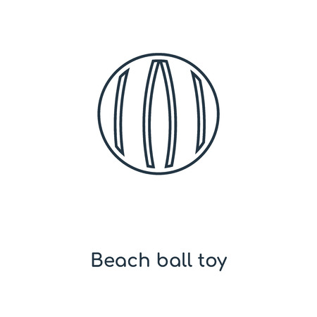Beach ball toy concept line icon. Linear Beach ball toy concept outline symbol design. This simple element illustration can be used for web and mobile UI/UX.