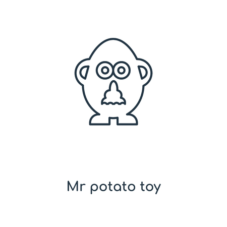Mr potato toy concept line icon. Linear Mr potato toy concept outline symbol design. This simple element illustration can be used for web and mobile UIUX. Illustration