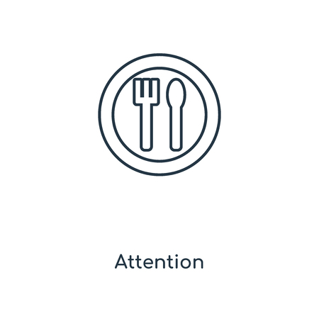 Attention concept line icon. Linear Attention concept outline symbol design. This simple element illustration can be used for web and mobile UI/UX.