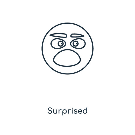 Surprised concept line icon. Linear Surprised concept outline symbol design. This simple element illustration can be used for web and mobile UI/UX. 向量圖像