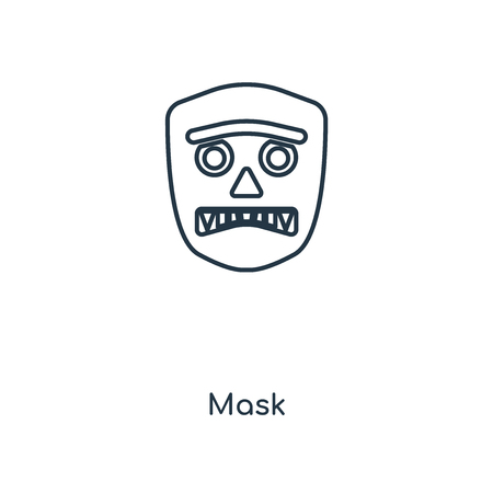 Mask concept line icon. Linear Mask concept outline symbol design. This simple element illustration can be used for web and mobile UI/UX.