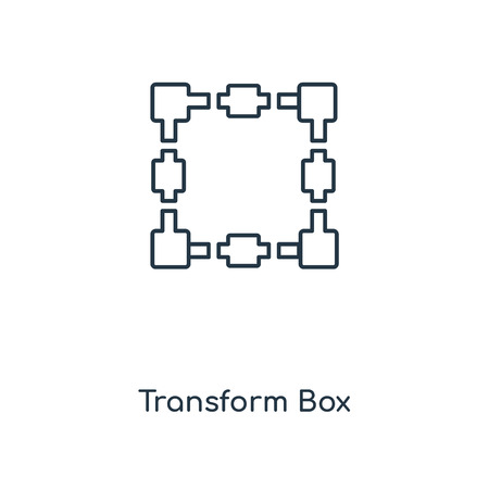 Transform Box concept line icon. Linear Transform Box concept outline symbol design. This simple element illustration can be used for web and mobile UIUX.
