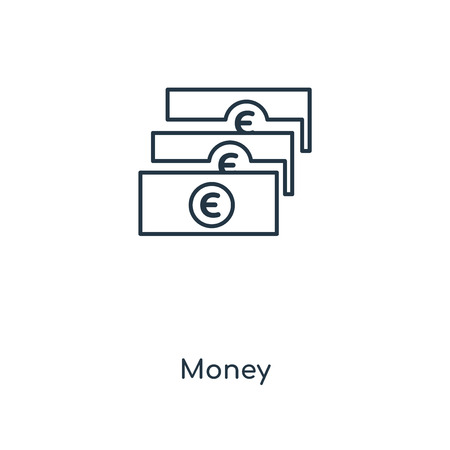 Money concept line icon. Linear Money concept outline symbol design. This simple element illustration can be used for web and mobile UI/UX.
