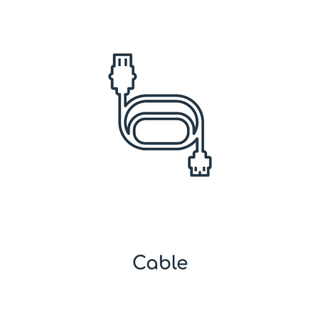 Cable concept line icon. Linear Cable concept outline symbol design. This simple element illustration can be used for web and mobile UIUX. Illustration