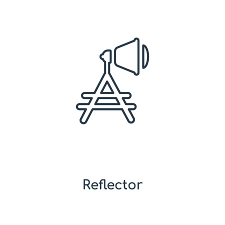 Reflector concept line icon. Linear Reflector concept outline symbol design. This simple element illustration can be used for web and mobile UI/UX.