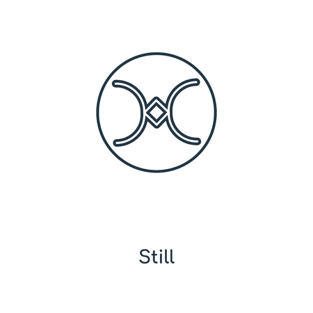Still concept line icon. Linear Still concept outline symbol design. This simple element illustration can be used for web and mobile UI/UX.