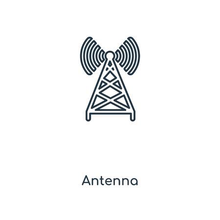 Antennenkonzept Symbol Leitung. Lineares Antennenkonzept skizziert Symboldesign. Diese einfache Elementillustration kann für Web- und mobile UI/UX verwendet werden.
