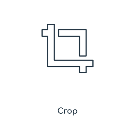 Crop concept line icon. Linear Crop concept outline symbol design. This simple element illustration can be used for web and mobile UI/UX.