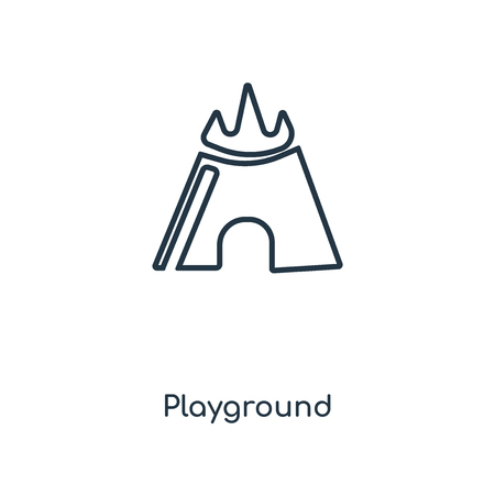 Playground concept line icon. Linear Playground concept outline symbol design. This simple element illustration can be used for web and mobile UIUX.